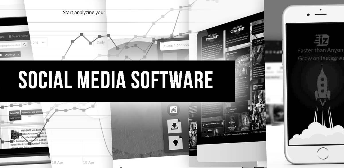 18+1社会媒体营销工具。用于Facebook、Youtube、Instagram+在线课程的软件