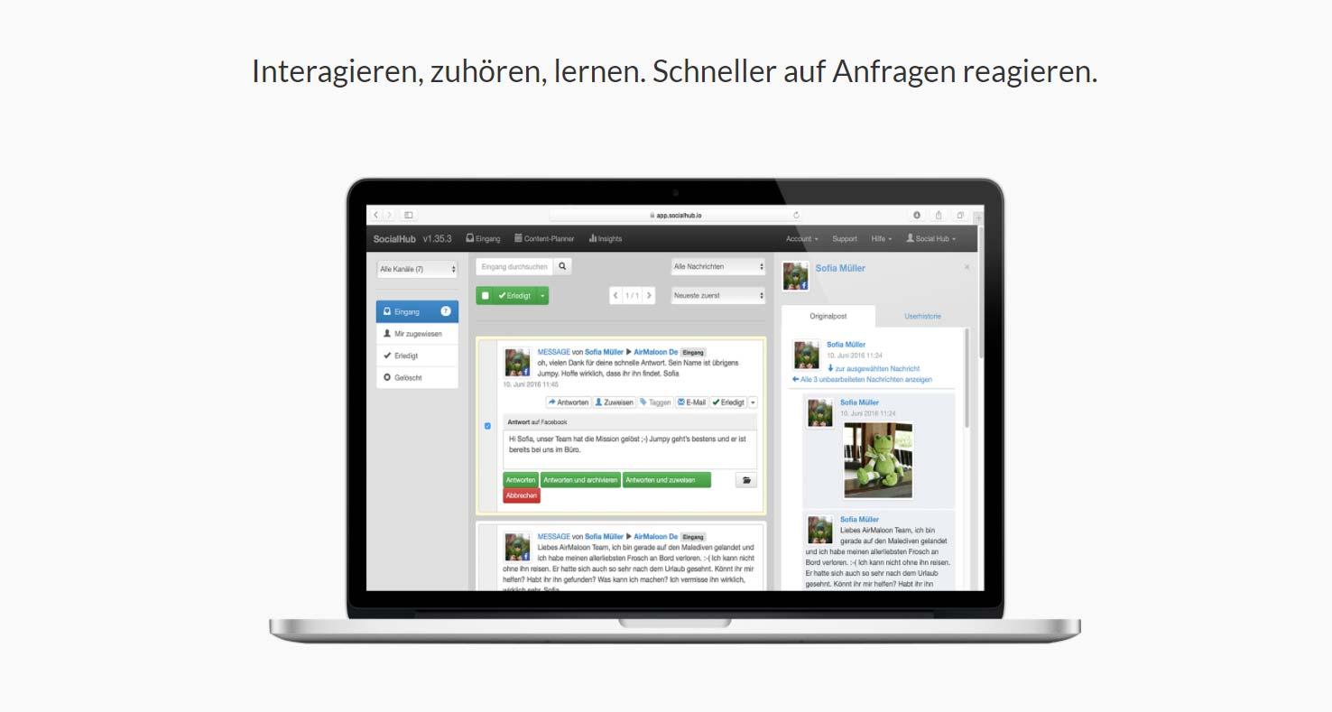 Social Hub:编辑计划和监测 - 软件提示
