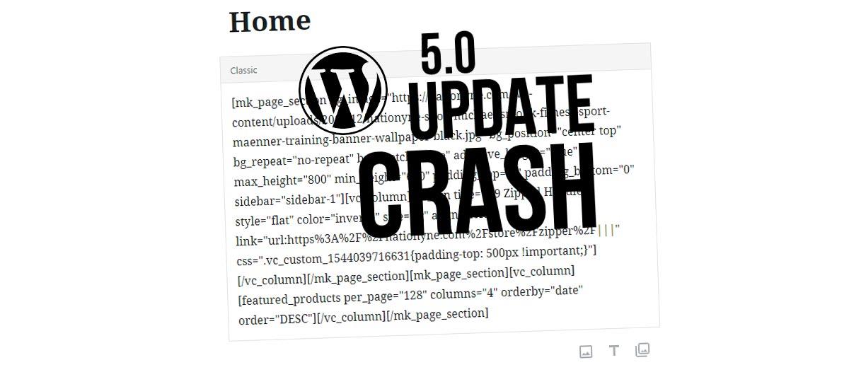 WPBakery页面生成器不再工作了?WordPress 5.0更新
